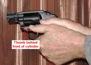 Alternate grip for double action only revolvers