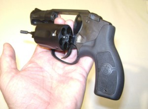 Opening the cylinder of a revolver using the non-shooting hand